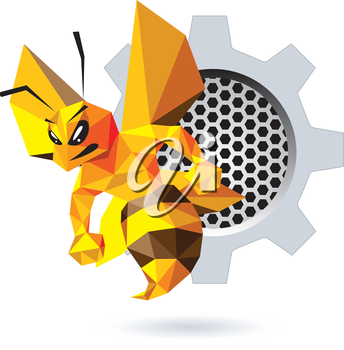 Bee Mascot Design. AI 10 Supported.