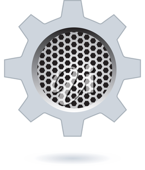 Perforated Hexagon Design. AI 10 Supported.