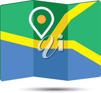 Map Icon an 3D Pin Design, EPS 10 supported.