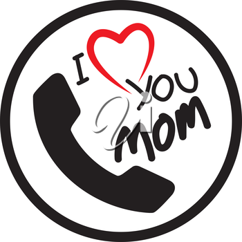 I Love Mom Icon Design