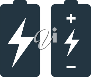 Battery with Flash Icon Design Concept