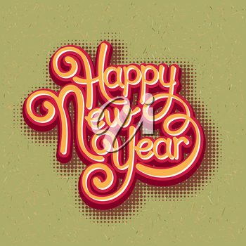 Inscription Happy New Year. Vector illustration EPS 10