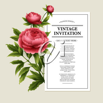 Vector Vintage floral card. Used as a greeting card for background of Valentine  day, birthday, mother  day, wedding or any other design EPS10