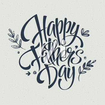 Greeting card template for Father Day.  Vector illustration EPS 10