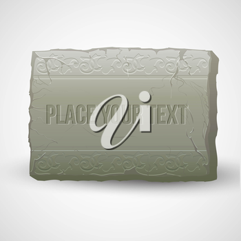 Ancient stones with inscriptions. Vector illustration EPS 10