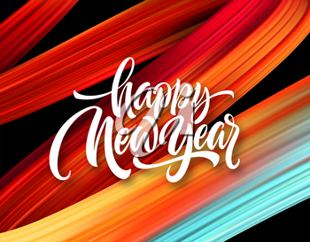 Happy New Year. Lettering greeting inscription. Vector illustration EPS10