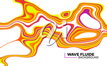 Modern poster with 80 s wave pattern. Abstract music pulse background. Trendy modern style. Rainbow color. Trendy gradient line style vector illustration. EPS10
