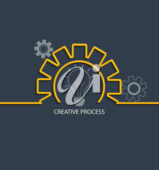 Creative process concept in flat style, vector.