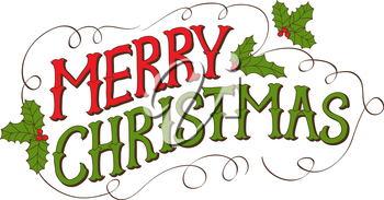Vintage Merry Christmas Card. Hand drawn vector lettering