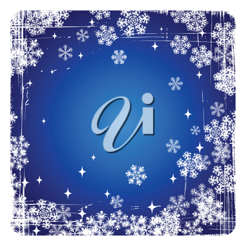 Decorative  vector Merry Christmas background with snowflakes.