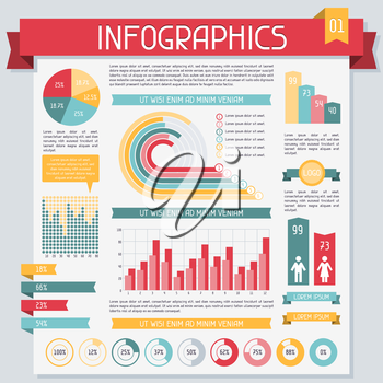 Infographics elements collection set 1.