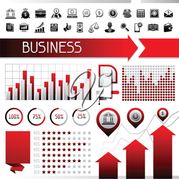 Set of infographics and business icons.