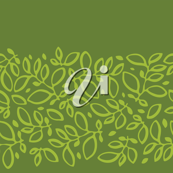 Seamless nature pattern with stylized abstract leaves.