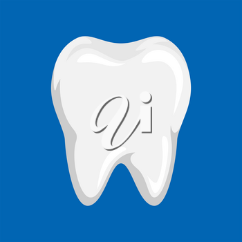 Illustration of clean tooth. Dental icon. Dentistry care concept.
