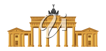 Brandenburg Gate in Berlin. German landmark illustration.