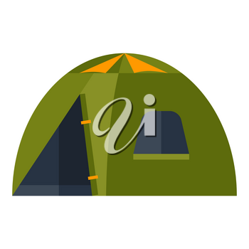 Illustration of tent. Image or icon for camping or tourism and travel.