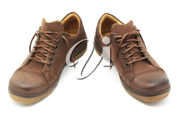 Pair of shoes. Element of design.