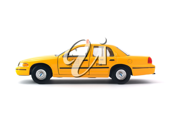 Taxi car. Isoalted object. Element of design.
