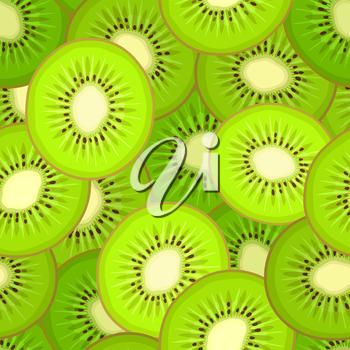 Seamless pattern with kiwi. Vector background
