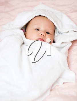 Adorable baby newborn, close-up portrait