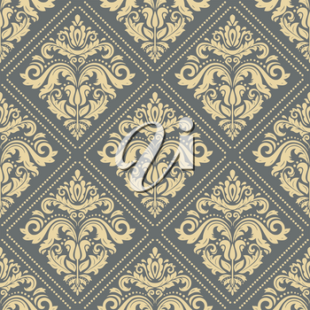 Classic seamless vector pattern. Damask orient ornament. Classic vintage golden background. Orient ornament for fabric, wallpaper and packaging