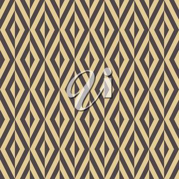 Seamless background for your designs. Modern vector brown and golden ornament. Geometric abstract pattern