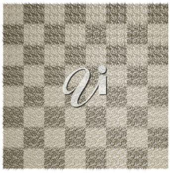 Wool blanket in the checkered white background.