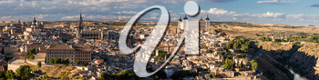 High resolution stitched panorama of ancient city of Toledo, Spain, Europe