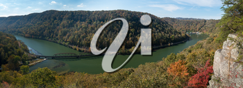 Overlook of New River from Hawks Nest State Park in West Virginia in Fall