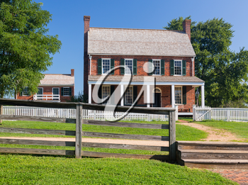 Clover Hill Tavern. Site of the surrender of Southern Army under General Robert E Lee to Ulysses S Grant in Appomattox, Virginia, USA