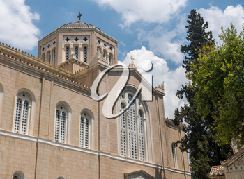 Exterior of Metropolitan Cathedral in Athens