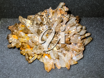 Crystals of minerals of rocks. The beauty of natural stones.