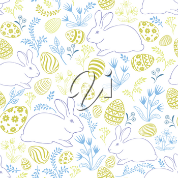 Floral holiday pattern. Easter seamless background.
