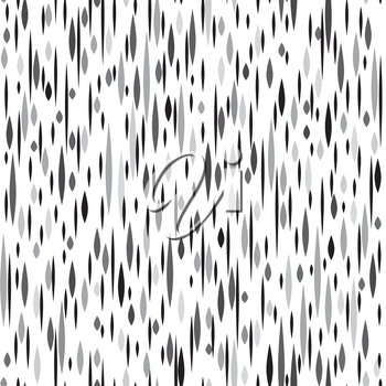 Abstract ink spot seamless pattern. Black and white grunge texture. Fall dot ornamental background