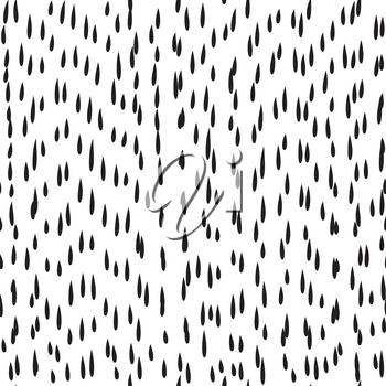 Abstract dot pattern. Something went wrong seamless ornament. Raindrop ornamental background