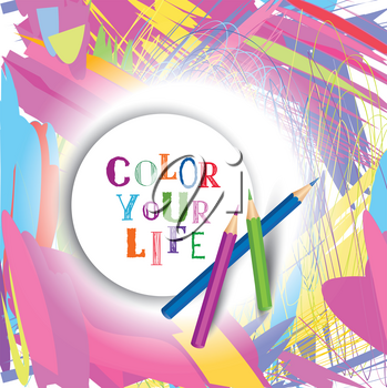 Splash banner art lab. Artistic vector background. Design Element for Your Design. Color Your Life