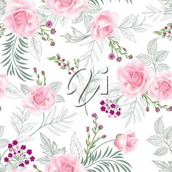 Floral seamless pattern. Garden Flower summer background.