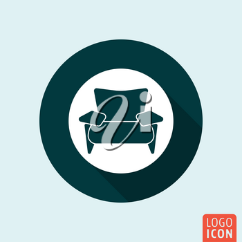 Armchair icon. Lounge zone symbol. Vector illustration