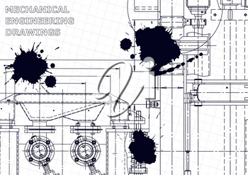 Machine-building. Instrument-making. Computer aided design system. Black Ink. Blots