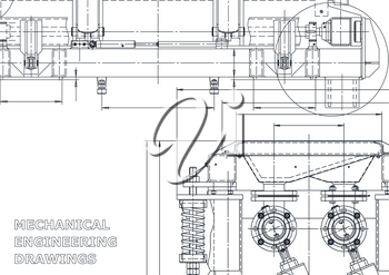 Technical abstract background. Vector drawing. Mechanical instrument making
