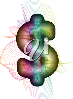 Abstract colorful Dollar sign