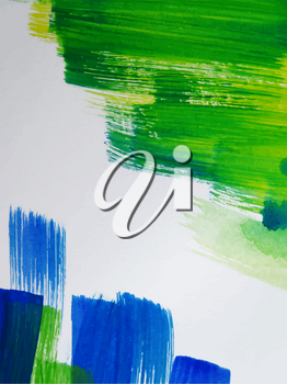 Colorful Abstract watercolor painted background Vector Illustration
