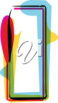 Abstract colorful Letter I