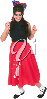 Royalty Free Photo of a Woman Dancing