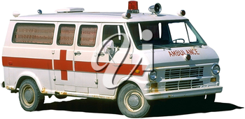 Royalty Free Photo of a Vintage Ambulance