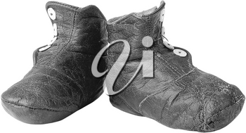 Royalty Free Photo of a Vintage Pair of Leather Shoes
