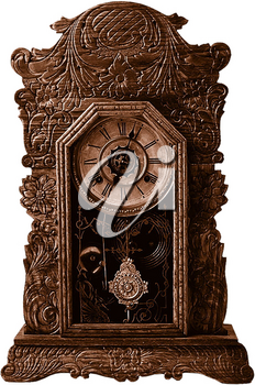 Royalty Free Photo of a Vintage Wooden Clock