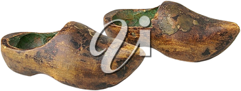 Royalty Free Photo of an Antique Wooden Clogs