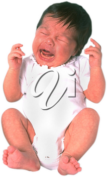 Royalty Free Photo of a Crying Infant