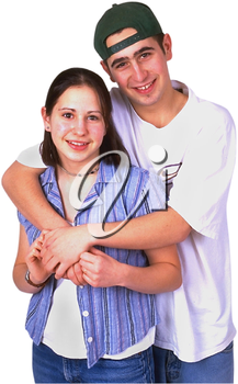 Royalty Free Photo of a Boy and Girl